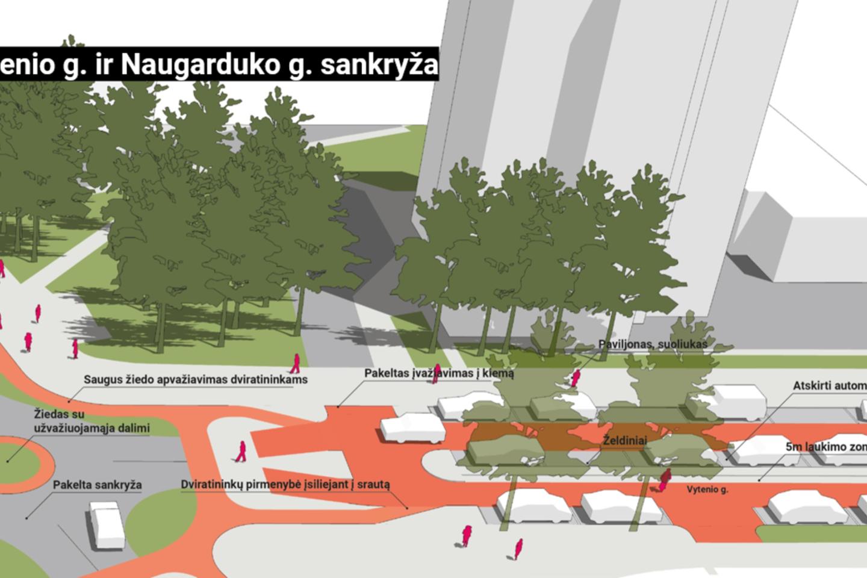 Ramaus eismo sostinės Naujamiesčio rajone pilotinis projektas, pernai pradėtas nuo Naugarduko gatvės, bus tęsiamas – sausio 26 d.<br>Pranešėjų spaudai nuotr.