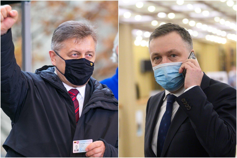 Į Seimą patekę V.Valkiūnas ir A.Guoga iškart puolė leisti pinigus.<br>lrytas.lt koliažas.