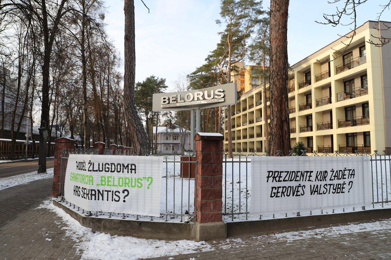 Sanatorijos darbuotojai planuoja socialinę akciją, kuria nori atkreipti valdžios dėmesį į jos veiklą.<br>Organizatorių nuotr.