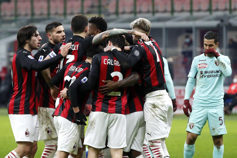 Milano klubas patyrė pralaimėjimą.<br>AP/Scanpix nuotr.