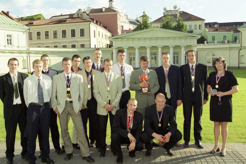 MKL čempionų pagerbimas prezidentūroje.<br>A.Pliadžio nuotr.