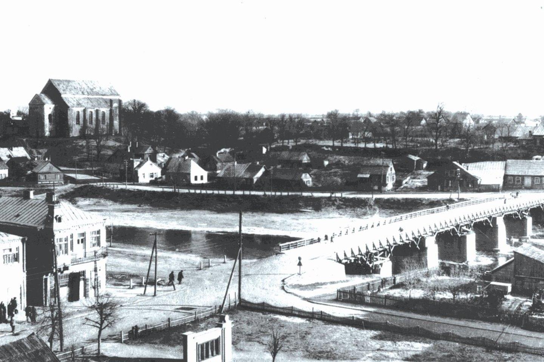 Paskutinė tilto nuotrauka. 1959 metų Henriko Grinevičius nuotrauka.