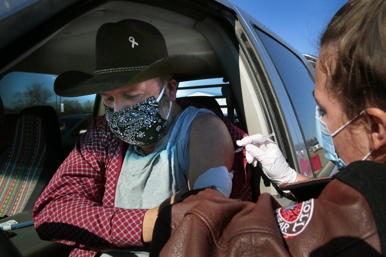 Du labiau užkrečiamos viruso atmainos, pirmą kartą identifikuotos Pietų Afrikos Respublikoje, atvejai nustatyti Pietų Karolinoje.<br>ZUMA press/Scanpix nuotr.