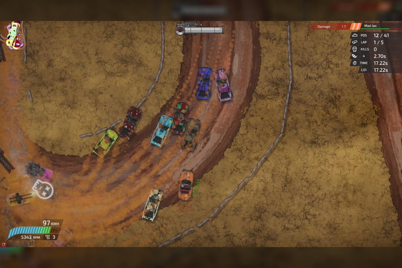 """Geriausias žaidimas asmeniniam kompiuteriui: """"Bloody Rally Show""""."""
