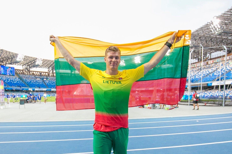E.Matusevičius pripažintas universiados čempionu.<br>LSSU nuotr.