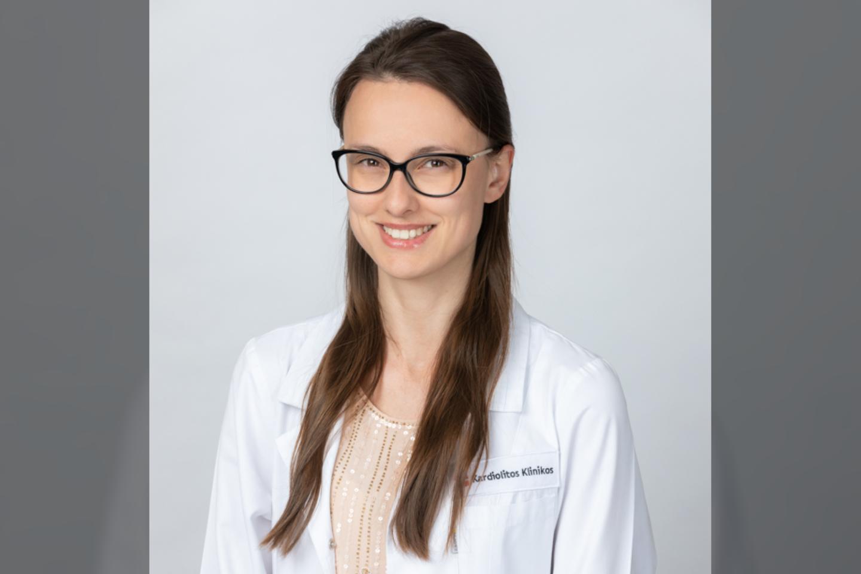 Gydytoja oftalmologė Dovilė Šimkienė<br>Pranešimo spaudai nuotr.