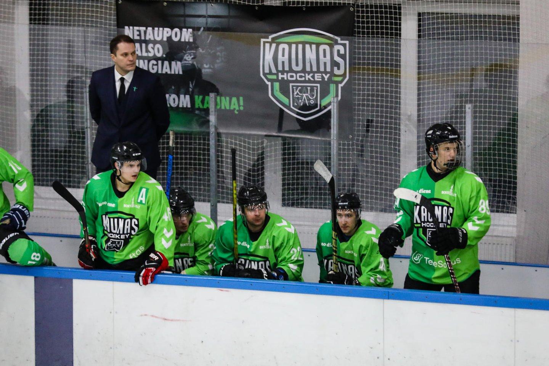 Lietuvos ledo ritulio čempionate pirmauja Kauno ekipa.<br>I.Jakučio nuotr.