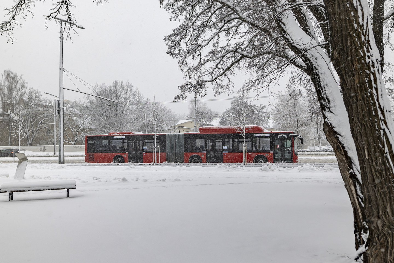 """Viešojo transporto keleivių srautai Vilniuje pamažu auga.<br>""""Susisiekimo paslaugos"""" nuotr."""