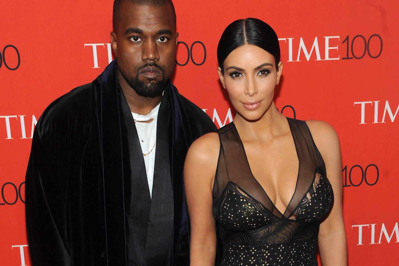 Kim Kardashian ir Kanye Westas.<br>Imago images/MediaPunch/ Scanpix nuotr.