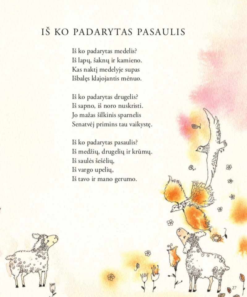 """V.Palčinskaitės eilėraščių rinktinės """"Vaikų kambarys"""" ištraukos ilustruotos S.Ach.<br>""""Nieko rimto"""" nuotr."""