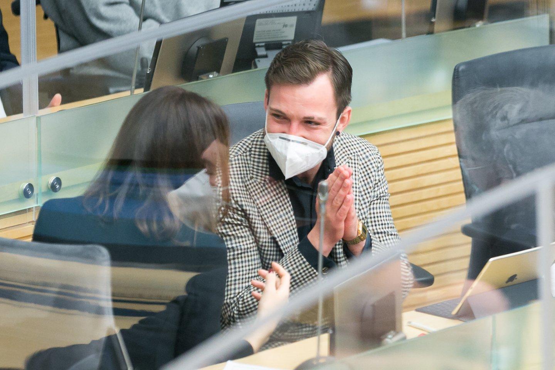 Laisvės partijos narys T.Raskevičius mano, kad Valstybės kontrolė turėtų nuodugniai ištirti LGGRTC, nes jame gali būti įvairių problemų.<br>T.Bauro nuotr.