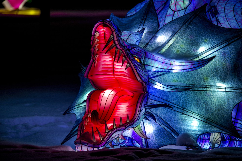 Šviesos skulptūros Pakruojo dvare.<br>V.Ščiavinsko nuotr.