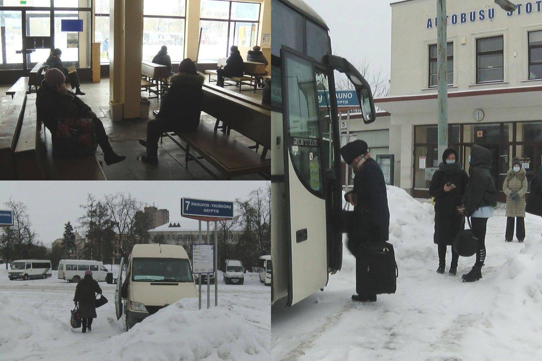 Dėl karantino drastiškai sumažinus autobusų maršrutų skaičių žmonės piktinasi negalintys nuvykti į kitus miestus net ir prispirti labai svarbaus reikalo.<br>lrytas.lt fotomontažas