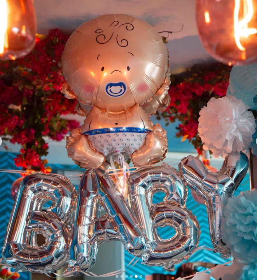 Kūdikio sutiktuvių šventės akimirkos.<br>Instagramo nuotr.