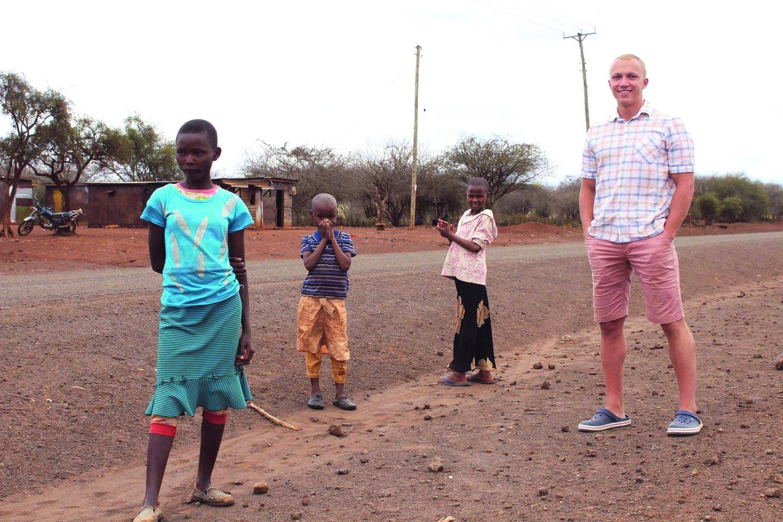 Mindaugas Kenijoje.<br>Nuotr. iš asmeninio albumo