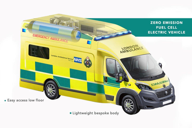"""Šį rudenį į Londono gatves išvažiuos unikalus greitosios pagalbos automobilis """"Zerro"""".<br>Gamintojo nuotr."""