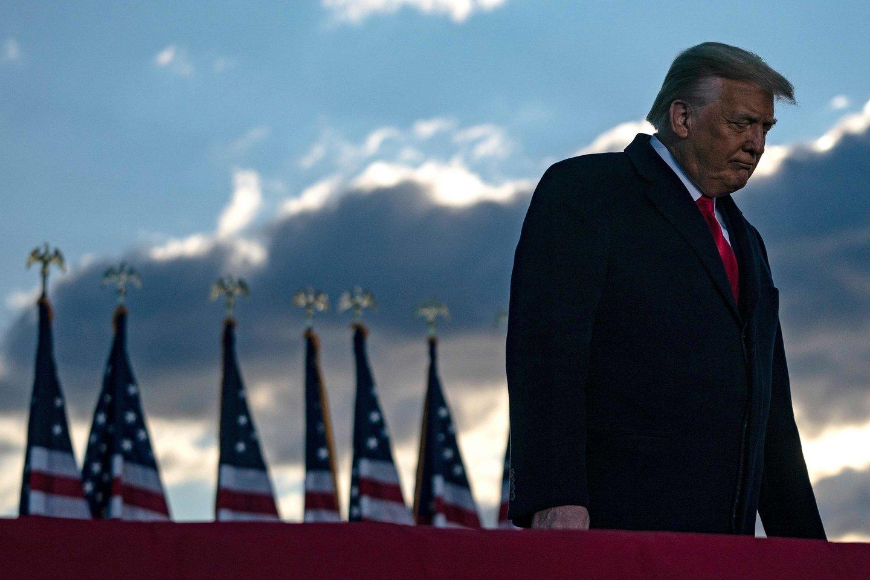 Buvęs JAV prezidentas Donaldas Trumpas.<br>AFP/Scanpix nuotr.