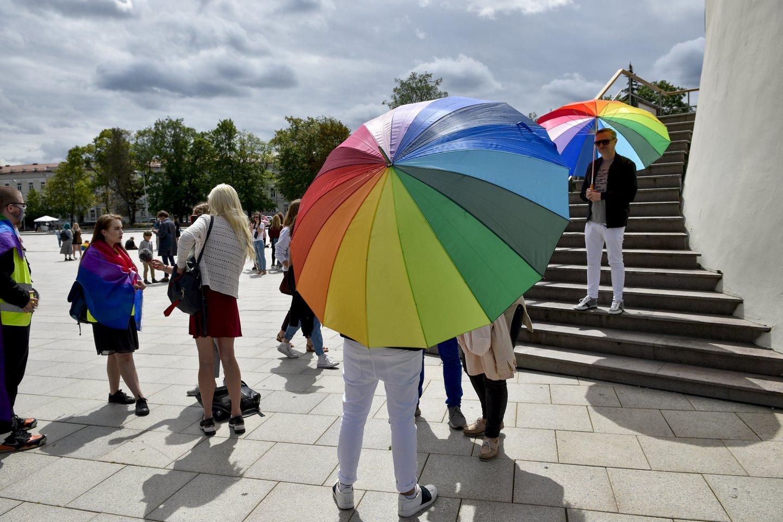 Lietuva yra viena iš šešių Europos Sąjungos valstybių, kurioje tos pačios lyties porų santykiai nėra niekaip reglamentuoti.<br>V.Ščiavinsko nuotr.