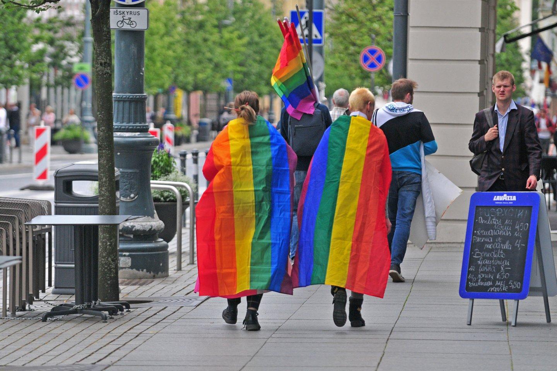 Lietuva yra viena iš šešių Europos Sąjungos valstybių, kurioje tos pačios lyties porų santykiai nėra niekaip reglamentuoti.<br>A.Vaitkevičiaus nuotr.