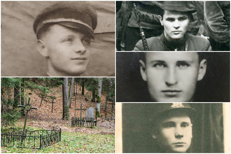 Našlaičių kapinėse rasti ir atpažinti 11-os partizanų ir jų rėmėjų palaikai.<br>Lrytas.lt koliažas