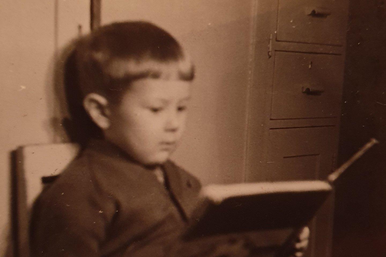 Prof. Liudas Mažylis vaikystėje.<br>Asmeninio albumo nuotr.