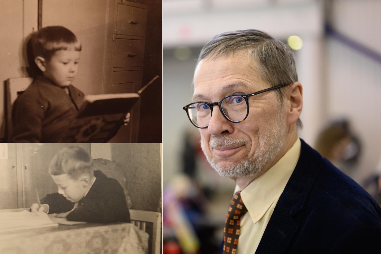 Vaikystėje prof. Liudo Mažylio pagrindinė pareiga buvo mokytis.<br>lrytas.lt koliažas