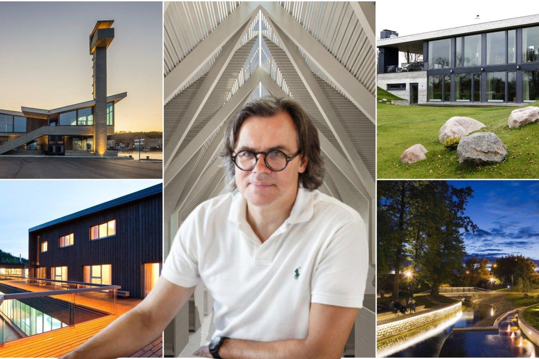 G.Vieversio architektūrą kolegos vadina žemiška – ji yra suaugusi su kraštovaizdžiu ir labiau išryškintos ne jos formos, o gamtos ženklai.<br>lrytas.lt montažas