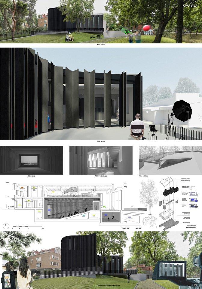 """Projektas """"Kino vila"""".<br>Vizual."""