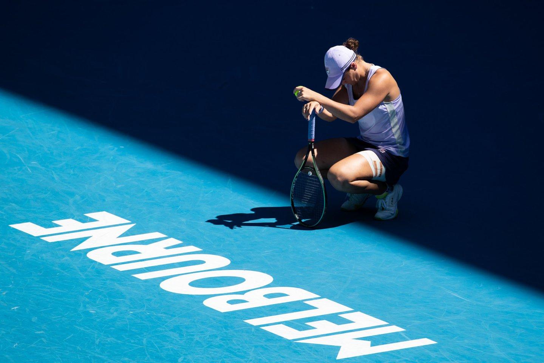 """Staigmena """"Australian Open"""": ketvirtfinalyje pasirodymą baigė pirmoji pasaulio raketė.<br>ZP/Scanpix nuotr."""