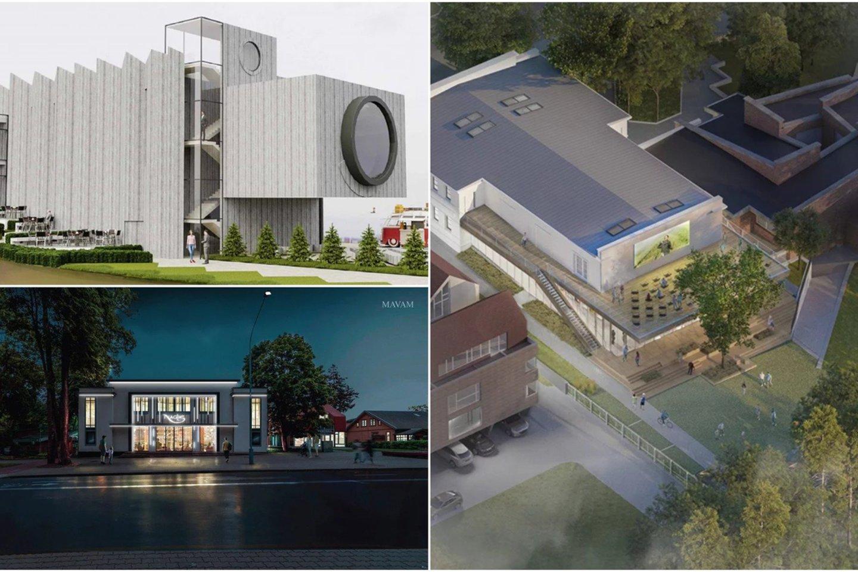 """Kino teatro """"Naglis"""" pritaikymo regioninės filmotekos reikmėms architektūrinio projekto konkursui pateikti 7 projektai. Projektiniai pasiūlymai nuo vasario 15 d. eksponuojami Architektų sąjungos pastato antro aukšto atriume (Kalvarijų g. 1)."""