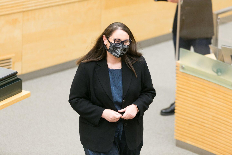 Teisingumo ministrė Evelina Dobrovolska.<br>T.Bauro nuotr.