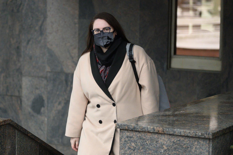 Teisingumo ministrė Evelina Dobrovolska.<br>V.Skaraičio nuotr.