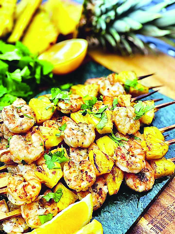 Krevečių ir ananasų iešmeliai