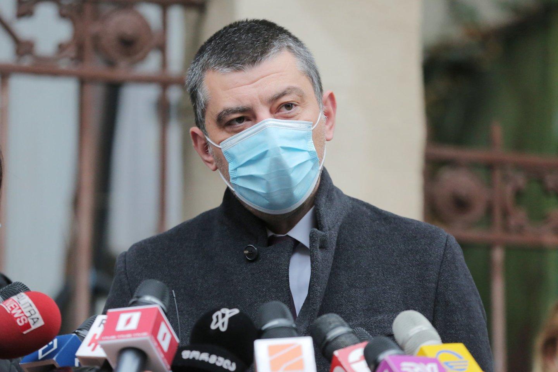 Sakartvelo ministras pirmininkas Georgijus Gacharija ketvirtadienį paskelbė, kad atsistatydina iš savo posto.<br>REUTERS/Scanpix nuotr.