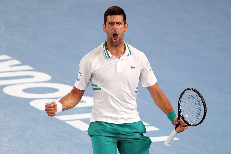 "N.Džokovicius devintąjį kartą žais ""Australian Open"" finale.<br>Scanpix nuotr."