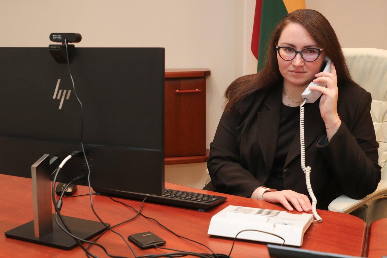 Teisingumo ministrė Evelina Dobrovolska.<br>Teisingumo ministerijos nuotr.
