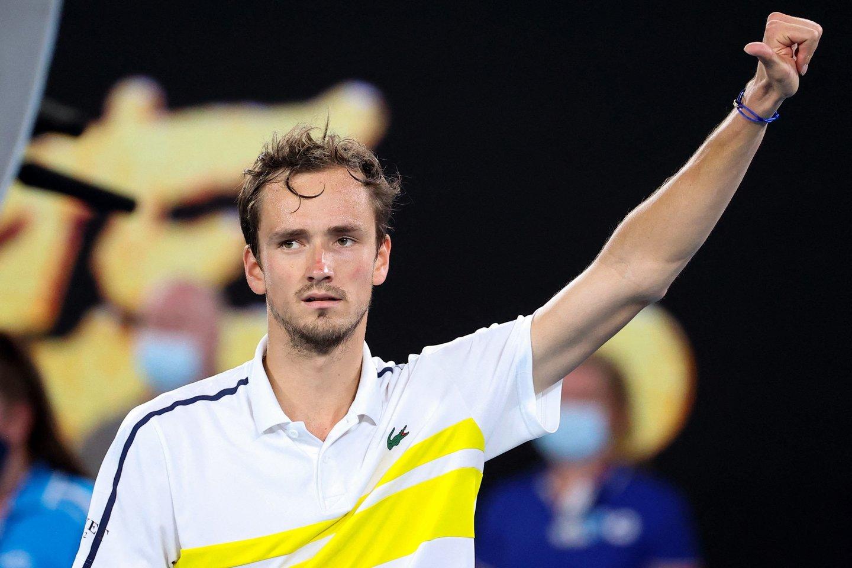 """D.Medvedevas pateko į""""Australian Open"""" finalą.<br>Scanpix nuotr."""