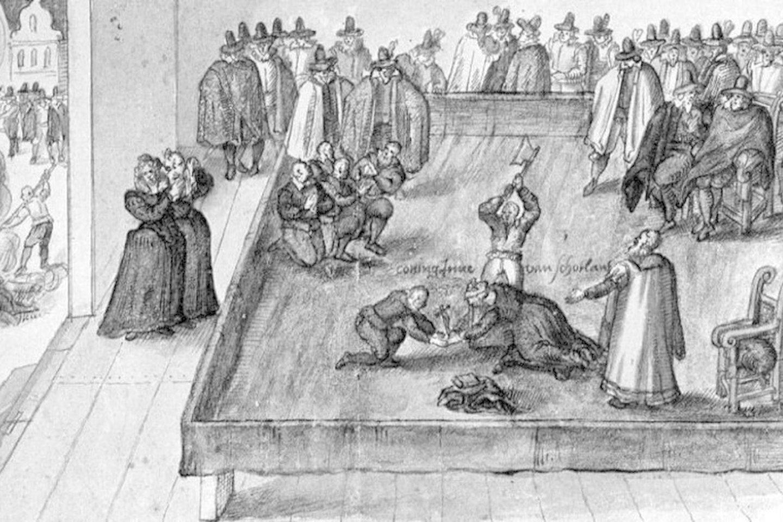 Škotijos karalienės Marijos Stiuart egzekucija (fragmentas).<br>Leidėjų nuotr.