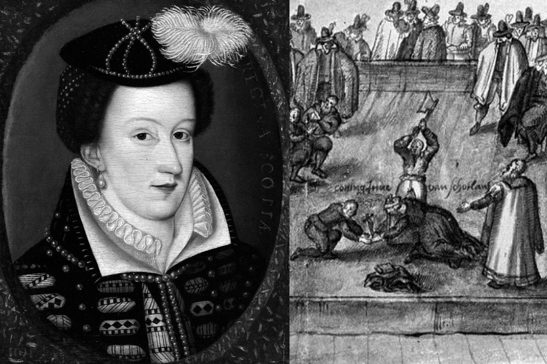 Škotijos karalienė Marija Stiuart ir jos nukirsdinimas.<br>Leidėjų nuotr.