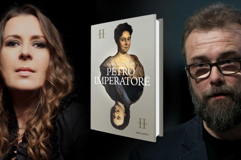 """Knygos pasirodymo proga virtualioje knygų šventėje """"Knygų savaitė"""" įvyko ir romano pristatymas: Kristiną Sabaliauskaitę kalbino Rytis Zemkauskas.<br>Leidėjų nuotr."""
