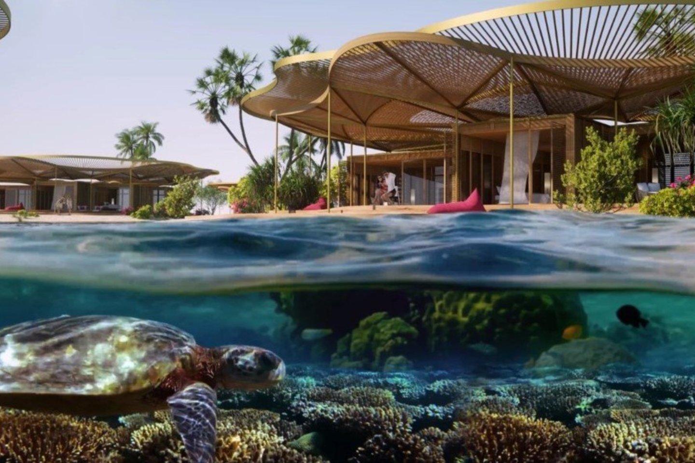 """""""Foster + Partners"""" sukūrė spalvingą salų rojų turizmo plėtrai Saudo Arabijoje.<br>Red Sea Development Company / technologijos.lt vizual."""