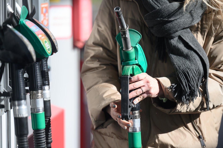 Mažmeninė prekyba automobilių degalais gruodį, palyginti su lapkričiu, vėl smuko – šįkart 8,3 proc.<br>V.Skaraičio nuotr.