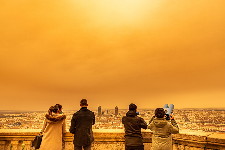 Europą užklups Sacharos dulkių debesis.<br>AAA iliustr.