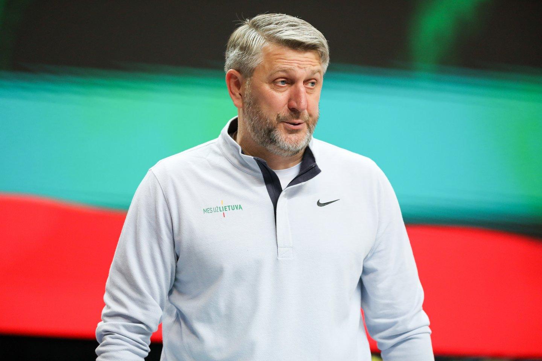 D.Maskoliūnas po pergalės prieš danus priminė, kad reikėtų pasidžiaugti patekimu į Europos čempionatą.<br>T.Bauro nuotr.