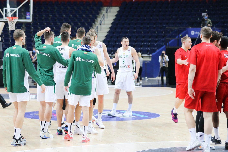 Lietuvos rinktinė įveikė Daniją.<br>T.Bauro nuotr.