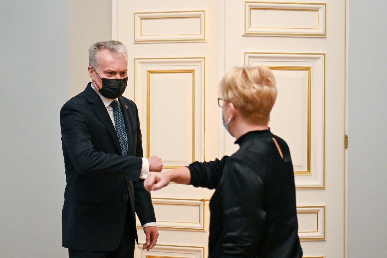 Ingrida Šimonytė ir Gitanas Nausėda.<br>Prezidentūros nuotr.