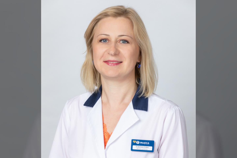 Šeimos gydytoja Edita Svikščiūtė<br>Pranešimo spaudai nuotr.