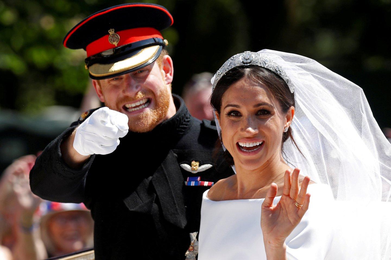 Meghan Markle ir princas Harry.<br>Scanpix nuotr.