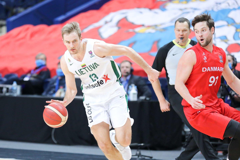 Lietuvos krepšininkai žengė į 2022-ųjų Europos krepšinio čempionatą.<br>T.Bauro nuotr.