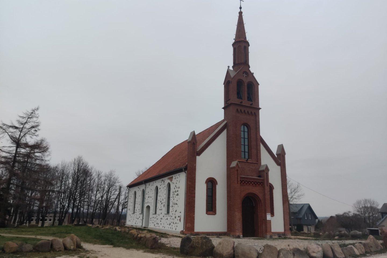 Restauruota Kretingalės bažnyčia.<br>KPD Klaipėdos skyriaus nuotr.